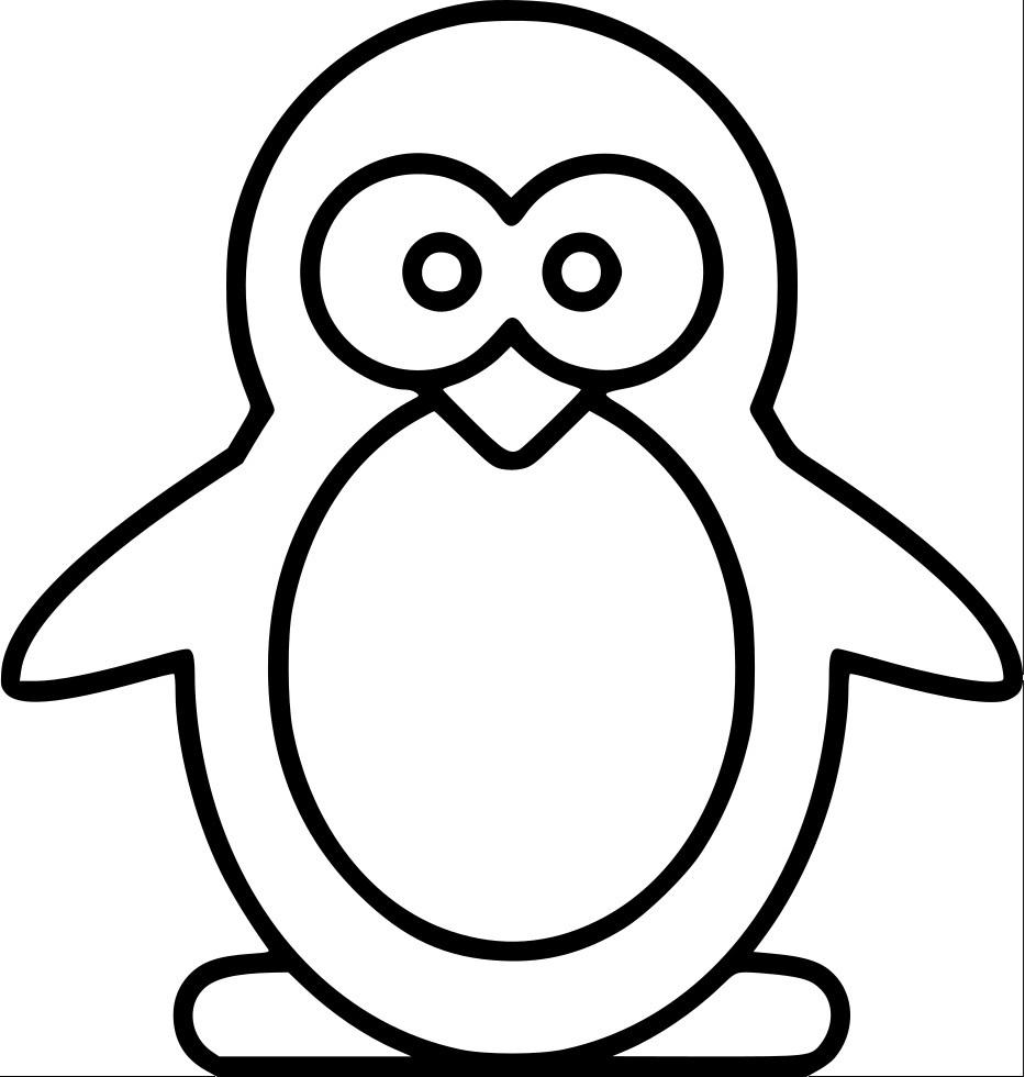 Новогодняя аппликация пингвин