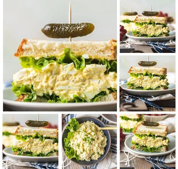 Новогодние бутерброды с яичным салатом