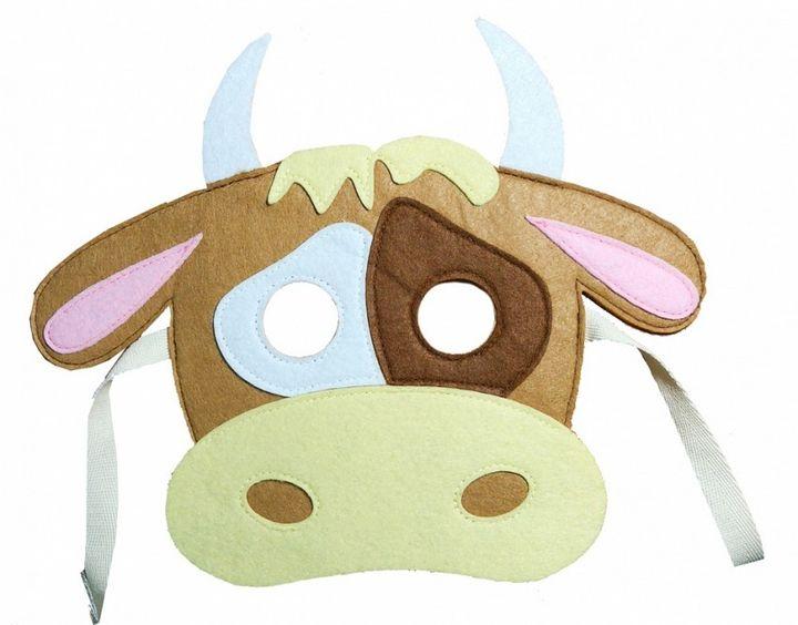 Делаем маску быка на Новый год