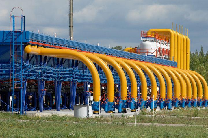Трансфер газа через Украину