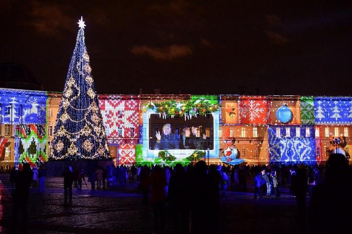 новогодняя елка на дворцовой площади