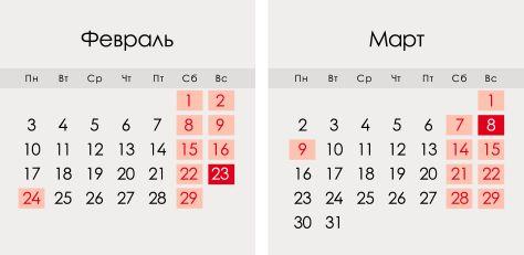 Февраль 2020 года в России: календарь, праздники, выходные
