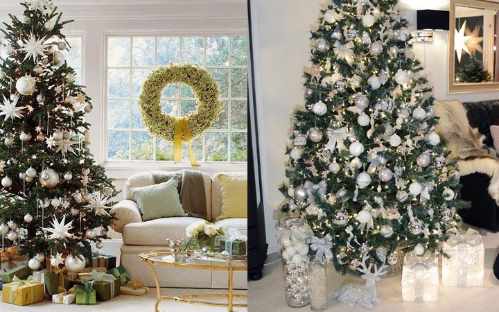 Как украсить елку в стиле металлик на Новый 2021 год
