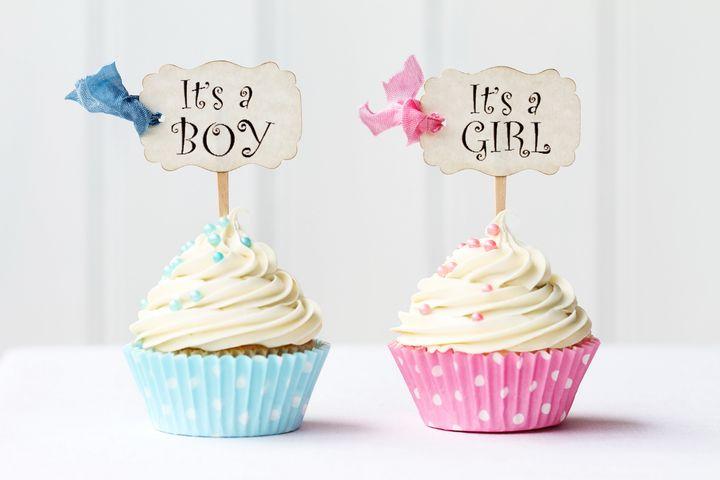 Кексы для мальчика и девочки