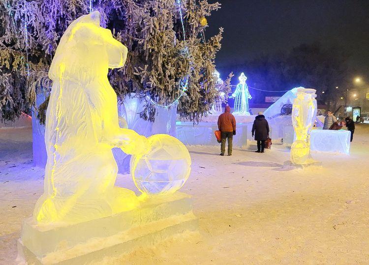 Ледовый городок в Измайловском парке