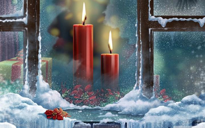 свечи у окна