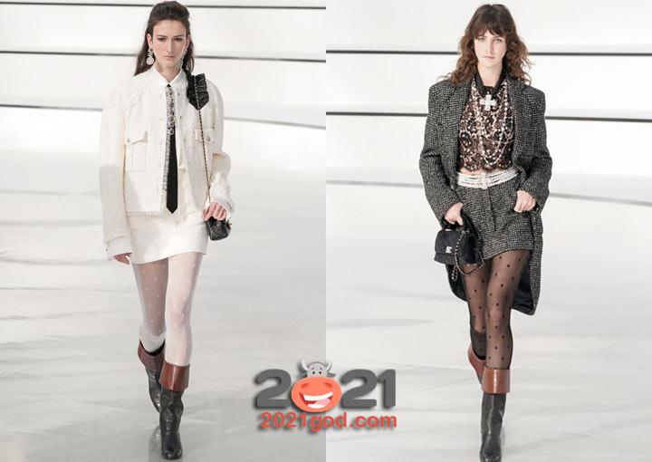 Модные мини-юбки от Шанель на 2021 год