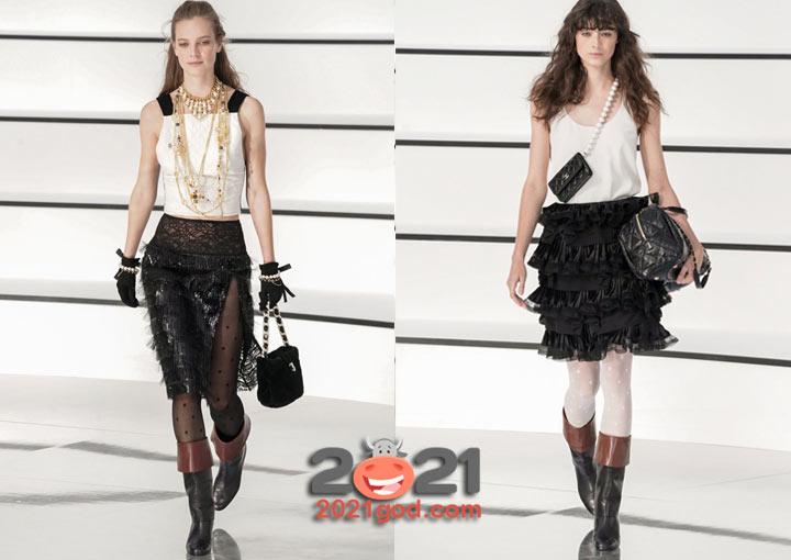 Модные юбки от Шанель осень-зима 2020-2021