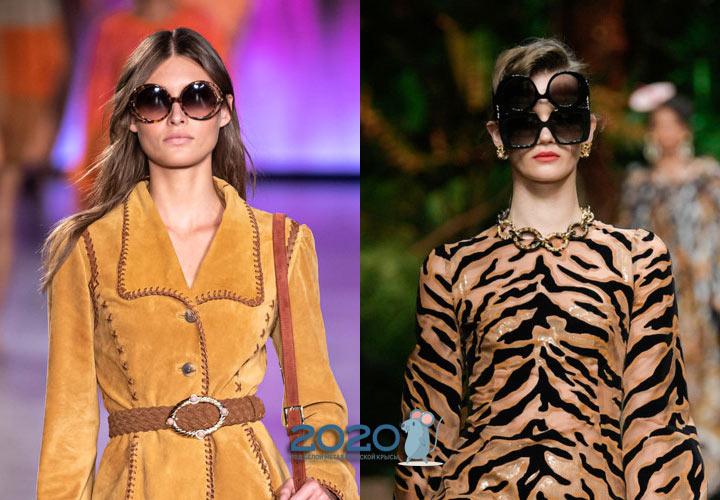 Большие солнцезащитные очки - тренд 2020 года