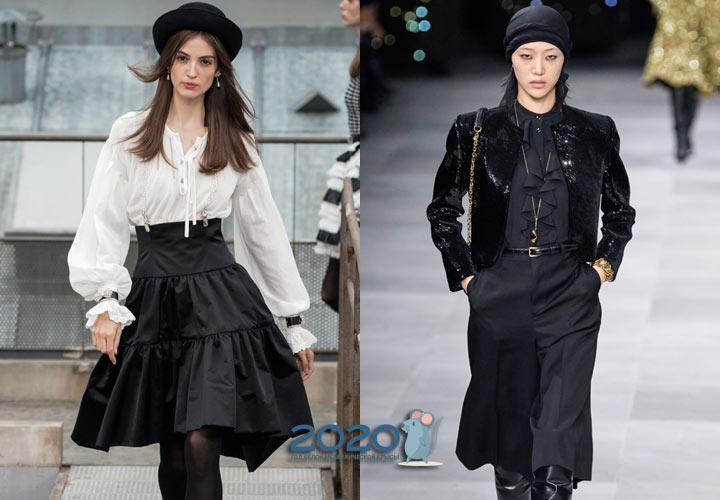 Модные белые и черные блузы на 2020 год