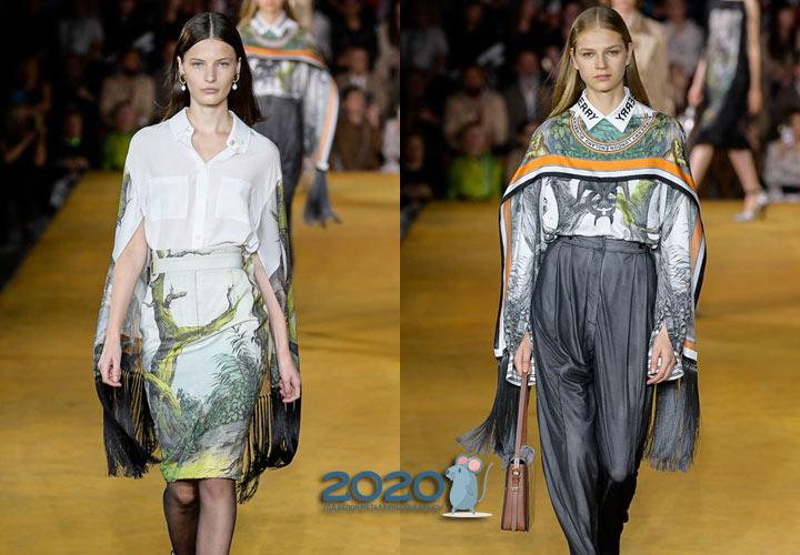 Модные блузки-кейпы на 2020 год