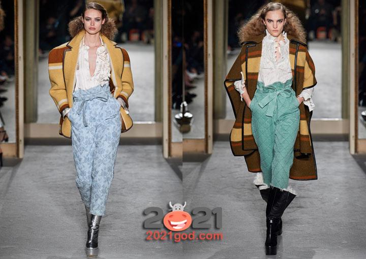 Модные стеганые брючки на 2021 год