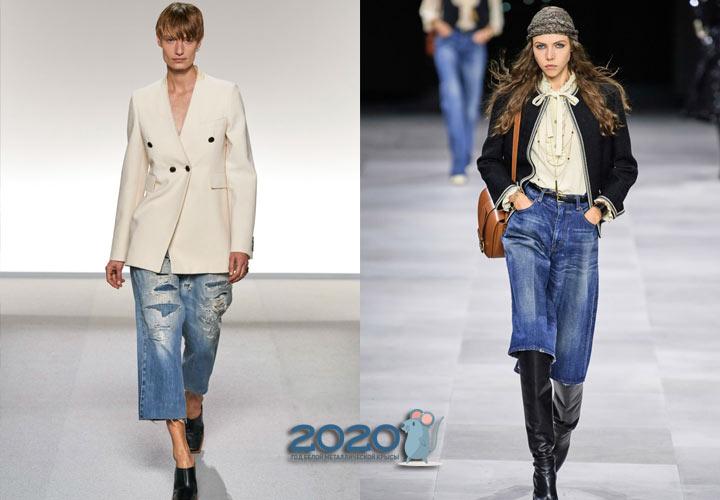 Модные джинсовые кюлоты сезона весна-лето 2020