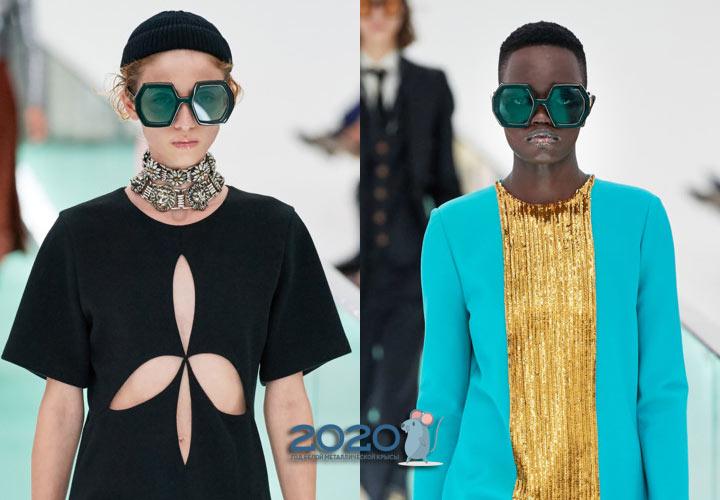 Модные очки шестигранники от Gucci весна-лето 2020