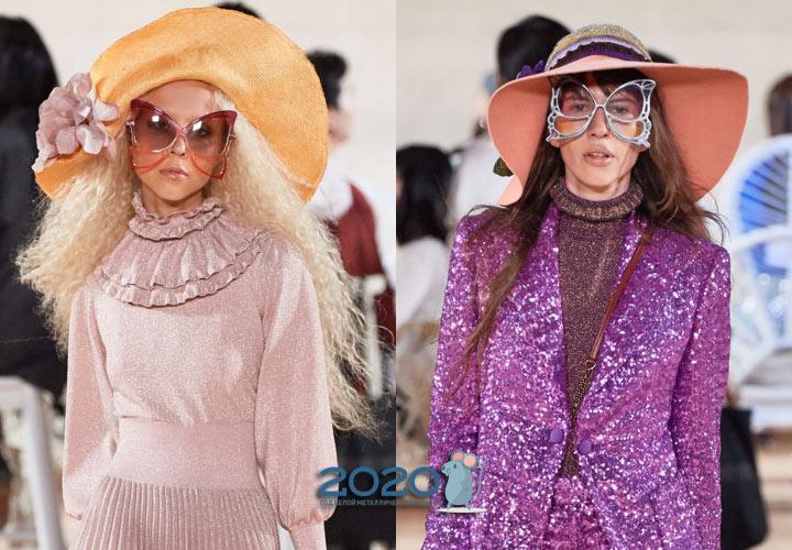 Модные очки крылья бабочки весна-лето 2020