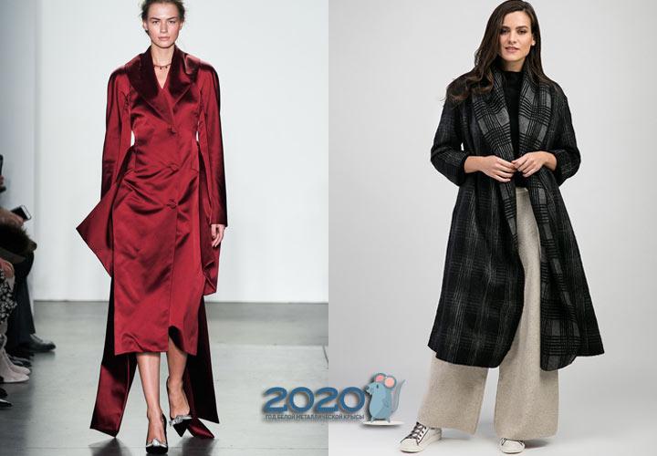 Текстильные пальто осень-зима 2019-2020