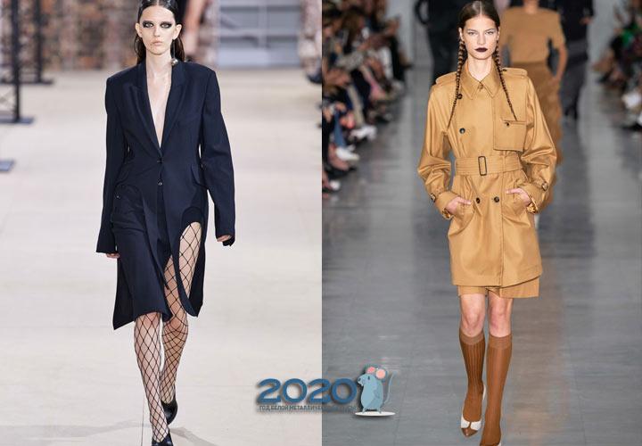 Модные асимметричные пальто весны 2020 года