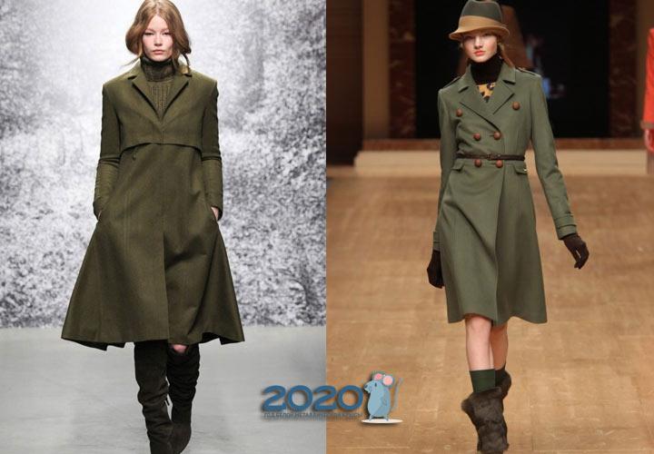 Плащи в стиле милитари мода сезона осень-зима 2019-2020
