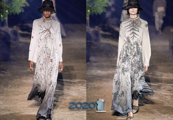 Модное градиентное платье весна-лето 2020