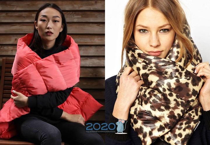 Модный стеганый шарф 2020 года