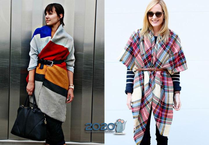 Модный шарф с поясом - тренд 2019-2020 года
