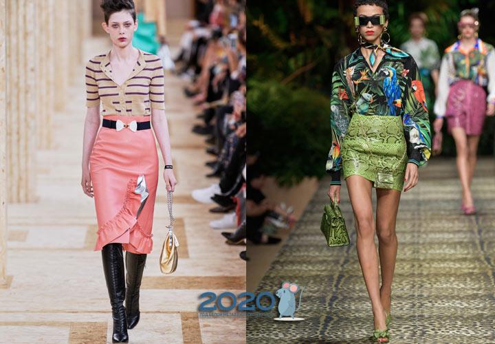 Модные расцветки и принты юбок весна 2020 года