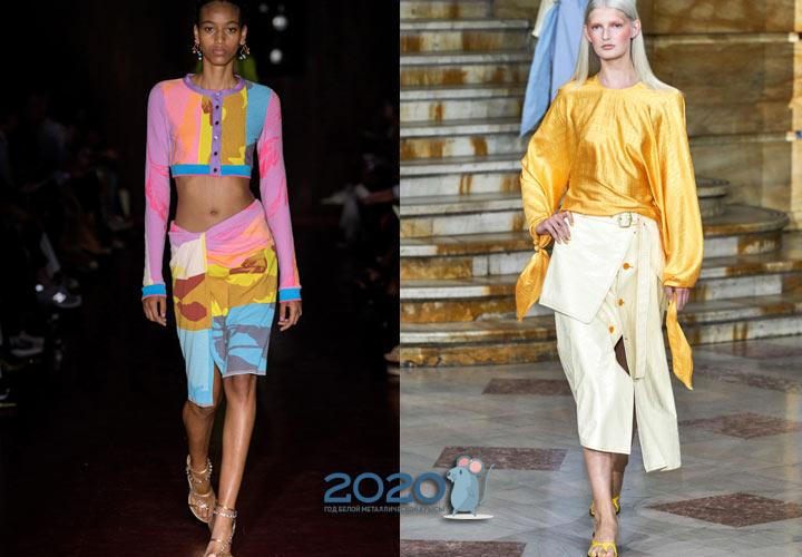 Модная асимметричная юбка весна-лето 2020