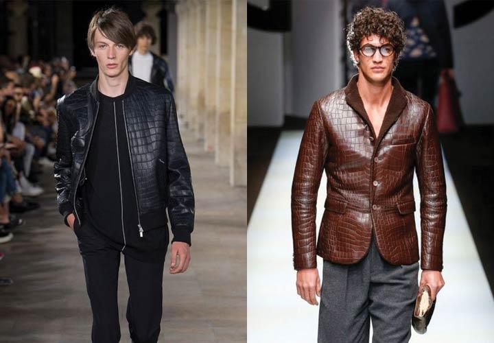 Куртка из кожи рептилий тренд 2019 года