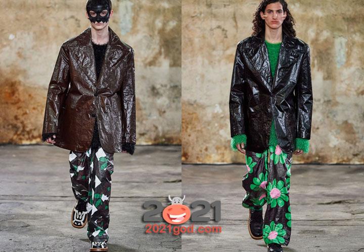 Walter Van Beirendonck осень-зима 2020-2021 кожаные мужские куртки
