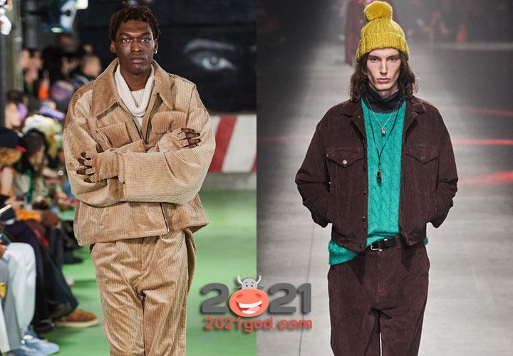 Мужская мода осень-зима 2020-2021 вельветовые куртки
