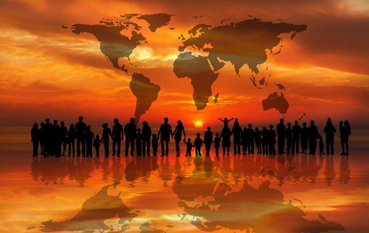 Население Земли по континентам