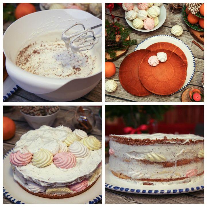 Приготовление торта Зефирный рай