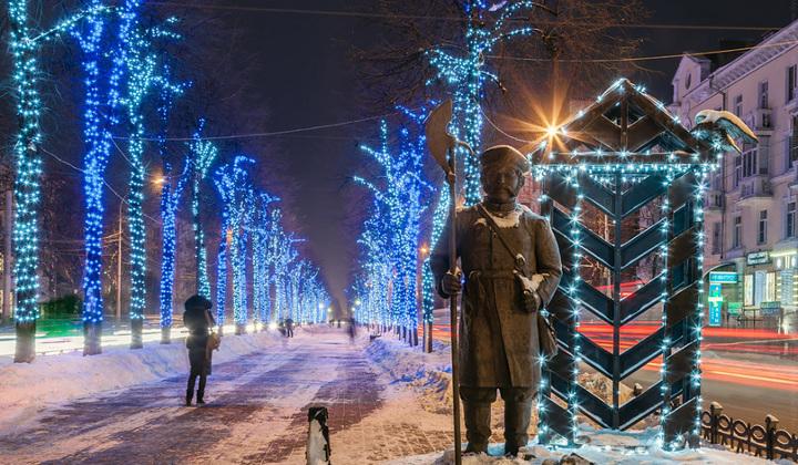 новогодние декорации ярославля