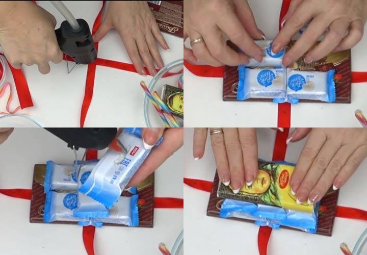 Сани из конфет пошаговая инструкция шаг 1