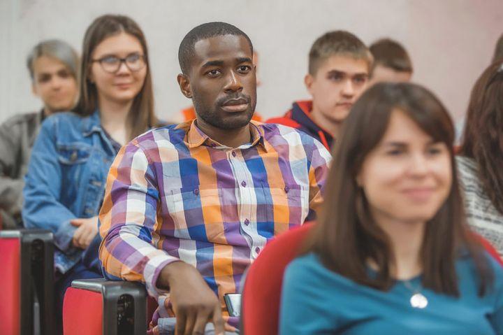Студенты РУДН на лекции