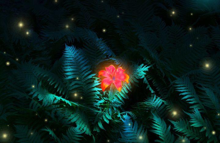 Цвет папоротника