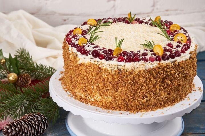 Торт новогодний медовый