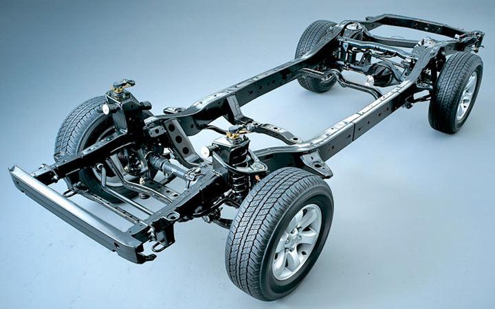 Классическая ланжеронная платформа для УАЗ Прадо 2002