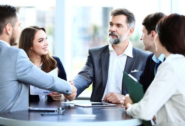 Предприниматели на встрече