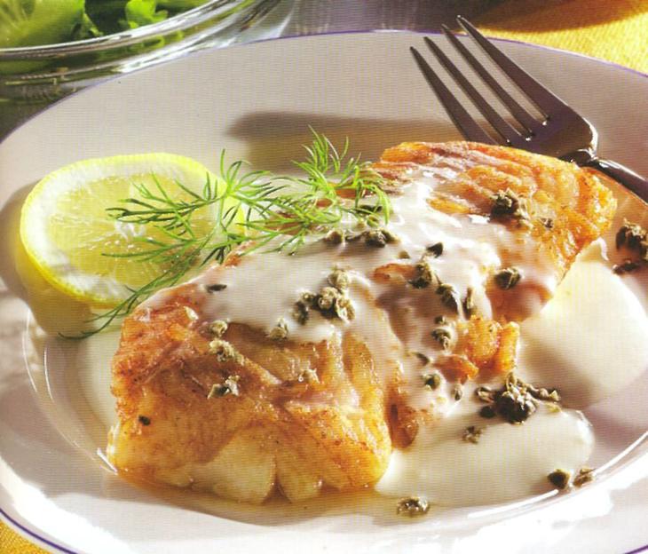Филе рыбы в сметанном соусе фото