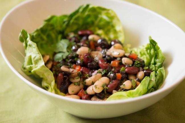 Грибной салат с фасолью фото