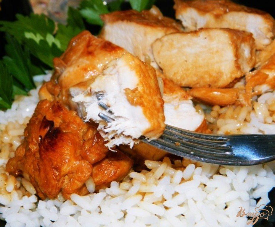 Курица в соевом соусе с вином и медом фото