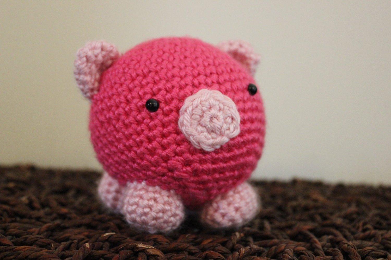 Милая свинка амигуруми фото
