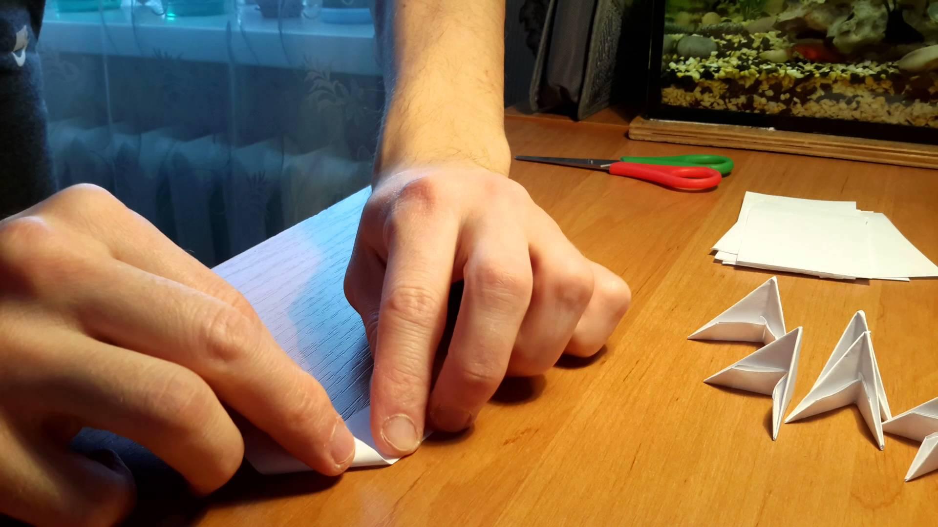 Правила сборки модульного оригами в виде Крысы фото