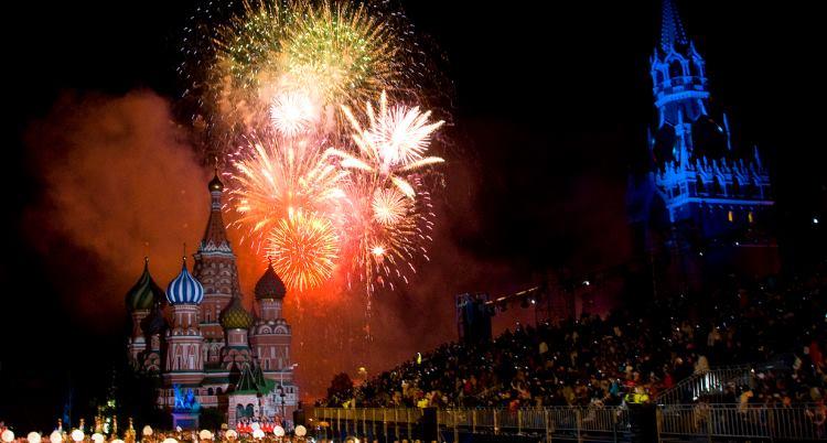 Празднование на Красной площади фото