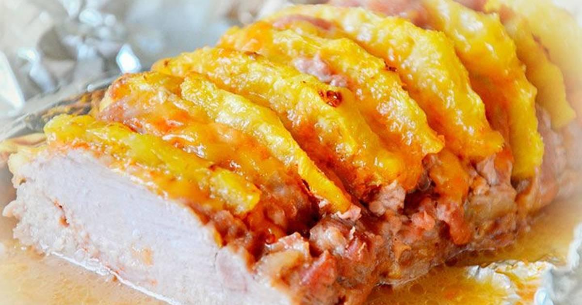 Рецепт свинины с ананасами фото