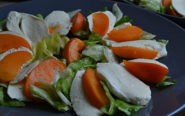 Салат с моцареллой и абрикосами фото