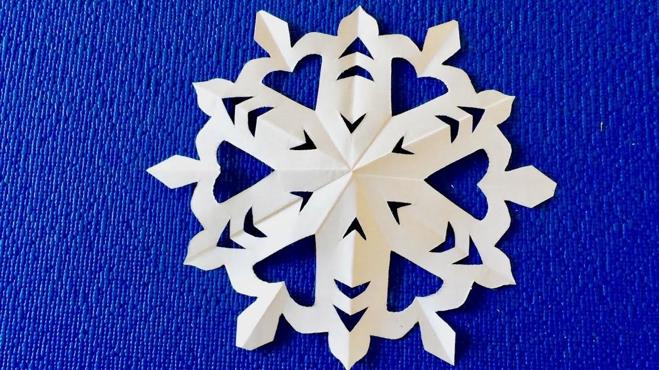 Снежинка из картона фото