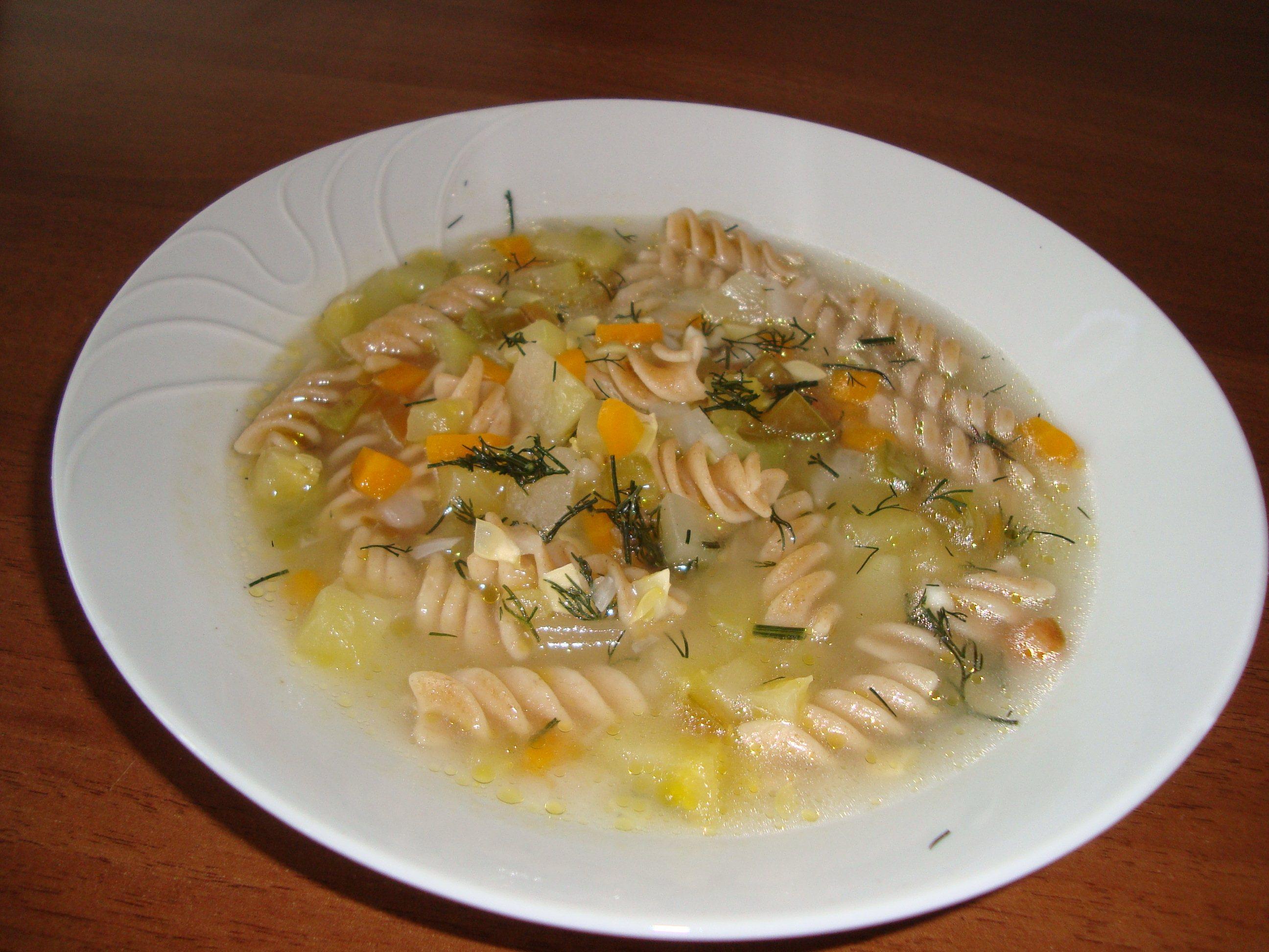 Суп с макаронами фото