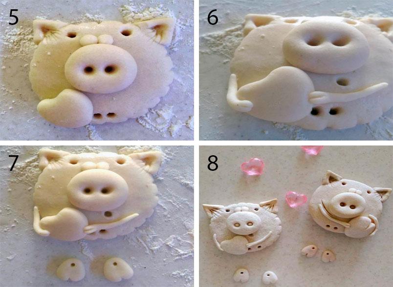 Свинка из цветного теста для лепки фото